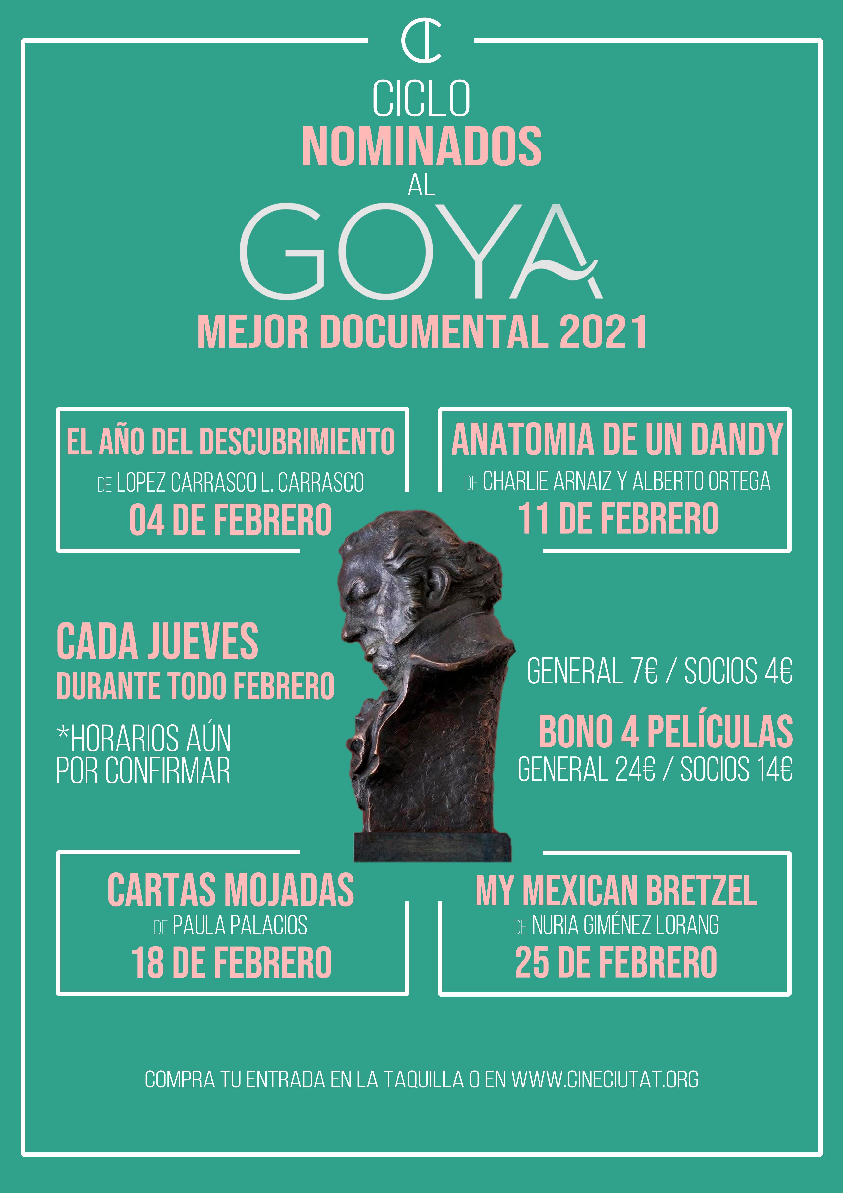 Ciclo especial: nominadas al Mejor Documental Goya 2021